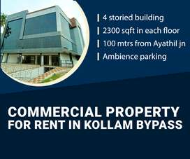 Commercial property for rent in Kollam Bypass