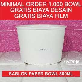 Sablon Paper Bowl 800ml