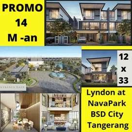 New! Rumah Mewah Terbaik di NavaPark BSD City Tangerang,Type 12x33