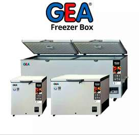 Freezer box merk gea (ready stok semua ukuran dr 102L sampai 1200L)