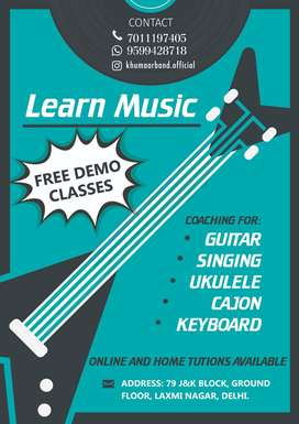 learn music online, offline. GUITAR, SINGING, UKULELE, KEYBOARD.