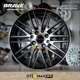 Velg Mobil Brave (307) Ring 15 Black Full Polish