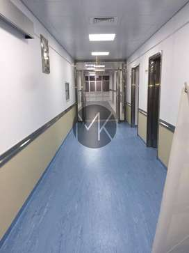 Poly flooring for hospital and gym floors