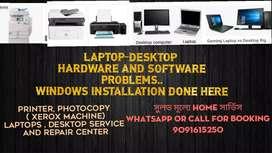 Laptops desktops, printer ,Xerox machine repair