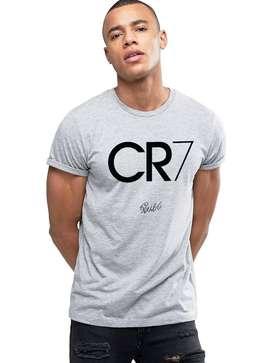 Grey Typographic round T-Shirt