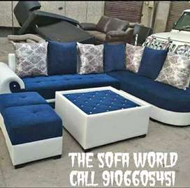 Blue and white great quality sofa with all set