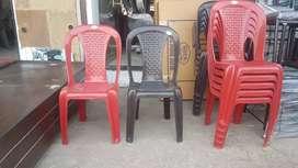 Plastic armless chair