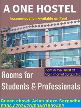 Room available for sports person in sargodha Queen chowk Arian plaza