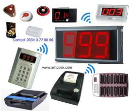 LED Display With Voice Token No Wireless Queue Management New Qmatic