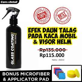 Glass Coating by Care & Detail | Water Repellent Efek Daun Talas Kaca