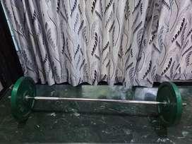 4ft rod ,10kg ×2 iron plates unused