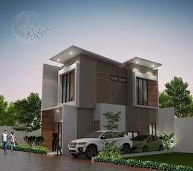 Rumah Mewah Tiga Lantai dekat tol Jagorawi UKI 4 unit