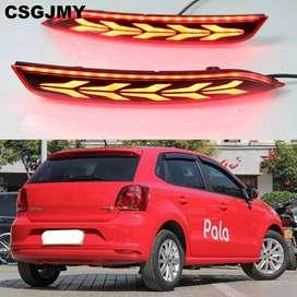For volkswagon polo rear bumper led reflector matrix indicator fog