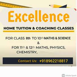 Home tution for 8th to 12th class mathematics and science