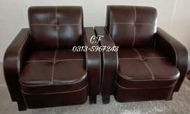 Shaded Brown 7seater sofa set.