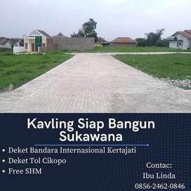 Lahan Sukawana Dekat Bandara Kertajati 108 m2 Row Jalan 5 meter