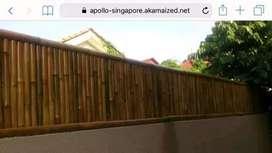 Pagar bambu finishing/non finishing