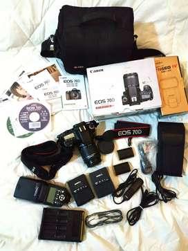 Camera Canon 70D Istimewa Fullset Banyak Bonus nya