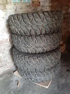 Brand new tyres for Thar