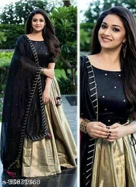 Western gowns for women Fabric: Banarasi Silk