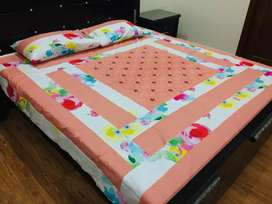 Center panel embroidery bedsheets Latest designs available