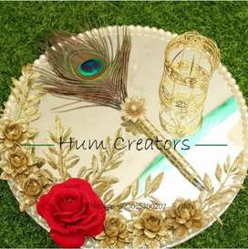 Birthday mayo and mehndi rasm decorations thal andall zipper available