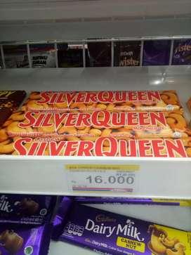 Coklat silver queen 65 gr hnya 110k