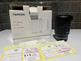 Dijual lensa Tamron 17-28 f2.8 Di III RXD for Sony FE