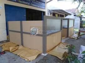 Meja Partisi Kantor Cubicle Workstation Kirim Luar Jawa