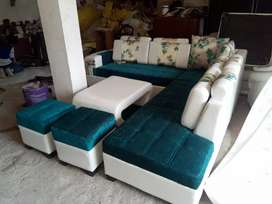 New L shape complete sofa set