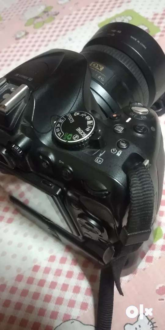 Nikon D5200 with 35mm prime lens and kit lens 0