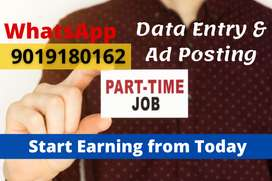 Work from home. Part time / Full time. Earn daily Rs.1000/-