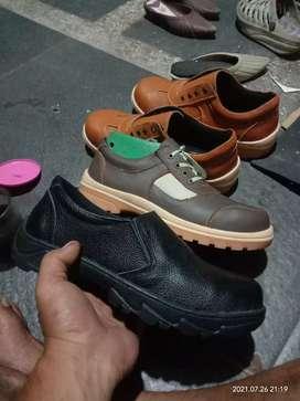 Gudang sepatu safety kulit asli