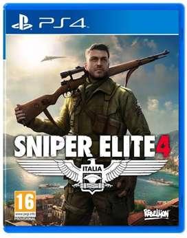 Jual kaset ps4 Sniper Elite 4