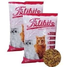 Makanan kucing felibite bentuk ikan Kemasan 500 gram Bisa cod