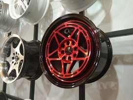 Velg Ring 15 Merah Metalic Bisa Kredit Gratis Pasang
