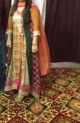 Colorful fancy gown along with trouser I'm very good conditiowith till