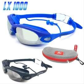 kacamata renang & earplugs