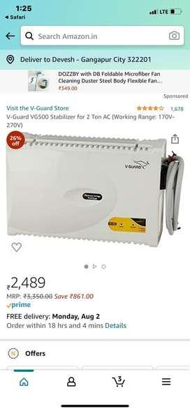 Vg500 ac stablizer 7 fresh pices @2050