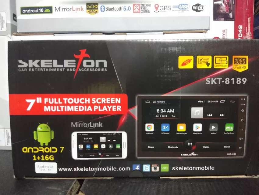 Android mobil 7inch merek skeleton ram 1gb rom 16rb garansi 1thn