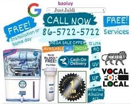 baoiuy RO water filter tv water tank water purifier AC dth.  1 y e a r