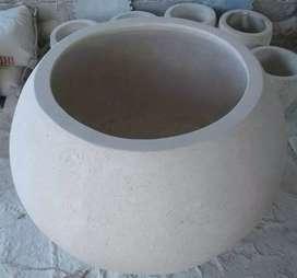 Pot kecil dan besar bahan terrazo