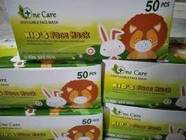 Masker Anak 3 Ply One Care 1 Box Isi 50 Pcs