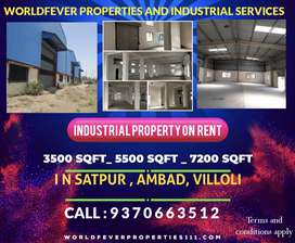 In ambad midc and satpur midc industrial property on rent