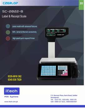 Barcode WiFi Connectivity And Receipt Printing Scale 30 Kg Weight Max