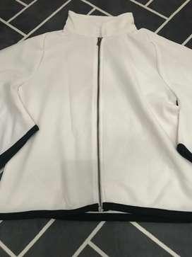 cardigan putih bahan tebel