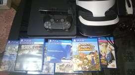 PS4 / PlayStation 4 Slim 500GB + GAME + VR + KAMERA ORIGINAL 100%
