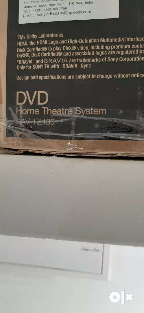 Sony home theater 5.1 with DVD PLAYER DAV-TZ130 0