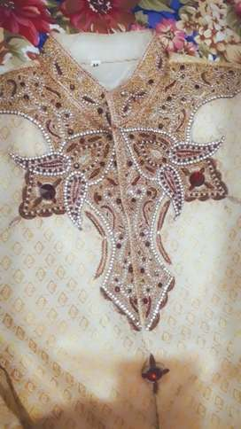 I am selling my Medium size shairwani and kolla only 1 time used.