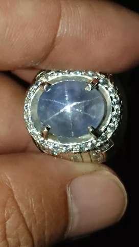 blue star sapphire 8.71 crt safir ceylon kristal natural harga net pas